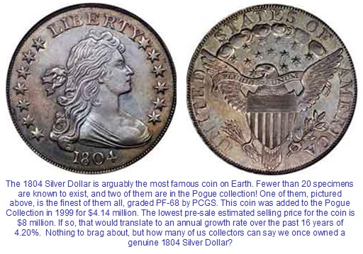 Proof 1804 Silver Dollar finest known