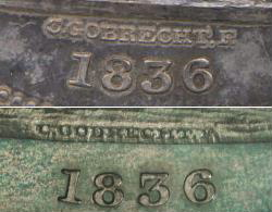 Gobrecht Dollar signature comparison