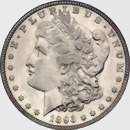 1893-S Morgan silver dollar obv