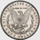 1893-S Morgan silver dollar rev