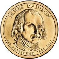 James Madison Presidential Dollar