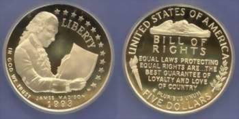 Bill of Rights commemorative coin