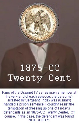 Screen shot of Dragnet suspect, with Twenty cent coin superimposed