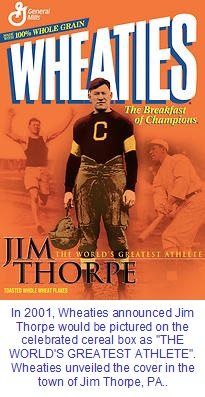 Jim Thorpe voted World's Greatest Athlete