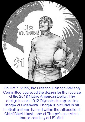 Jim Thorpe 2018 coin