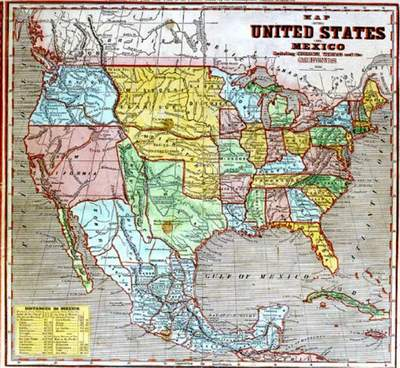 Maps Us Map 1845
