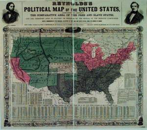 political map of united states before civil war