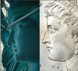 Statue of Liberty face compared to Morgan Silver Dollar