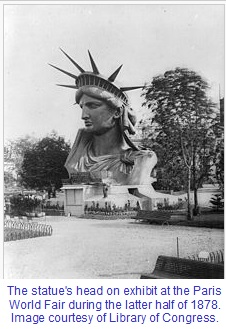 Statue of Liberty Head 1878