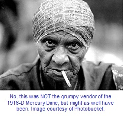 Grouchy old woman