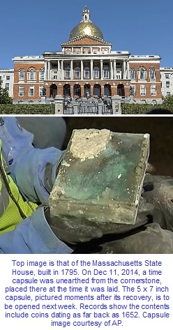 Massachusetts State House and 1795 time capsule