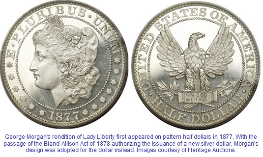 1877 Morgan Half Dollar pattern