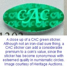 Image of CAC green sticker