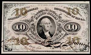 Civil War fractional currency