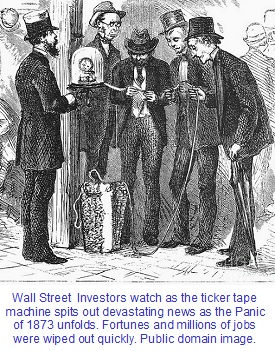 The Coinage Act of 1873 helped trigger the massive economic Panic of 1873