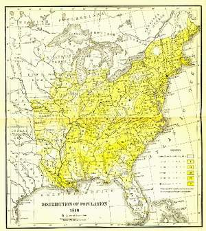 1840 Population Distribution map