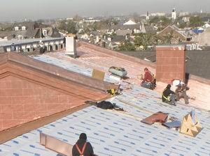 Damage Repair to New Orleans Mint roof after Katrina