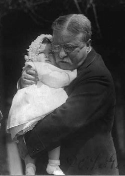Theodore Roosevelt with granddaughter